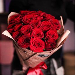 25 красных роз 50 см Эквадор