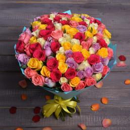 101 роза МИКС 40см Кения