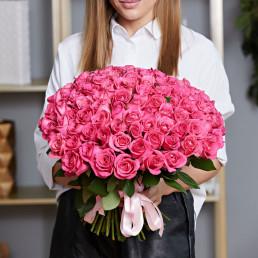 101 розовая роза 40 см Кения