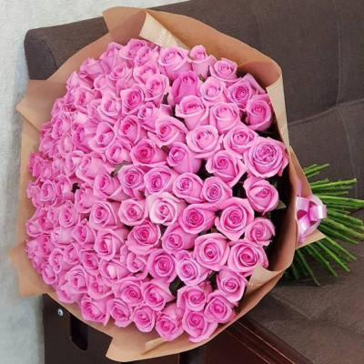 101 розовая роза 50 см Кения