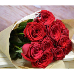 Букет из 11 красных роз 50 см Эквадор