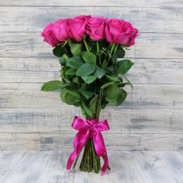 Букет из 11 розовых роз 50 см Кения
