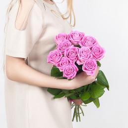 Букет из 11 розовых роз 70 см Эквадор