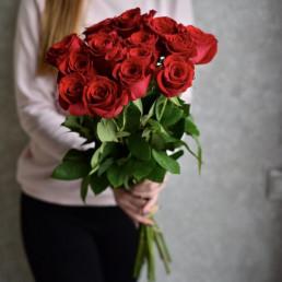 Букет из 15 красных роз 70 см Эквадор