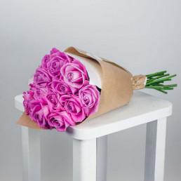 Букет из 15 розовых роз 50 см Кения