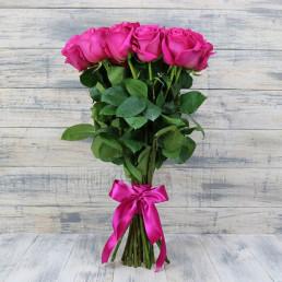 Букет из 15 розовых роз 70 см