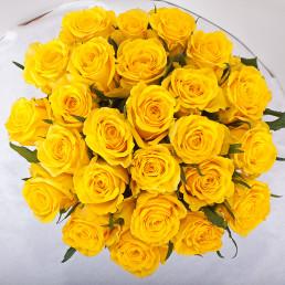 Букет 25 желтых роз 40 см Кения