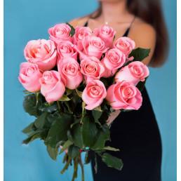Букет из 25 розовых роз 50 см Эквадор