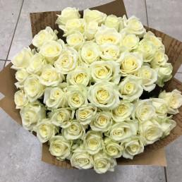 51 белая роза 40 см Кения