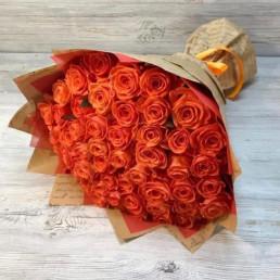 51 оранжевая роза 40 см Кения
