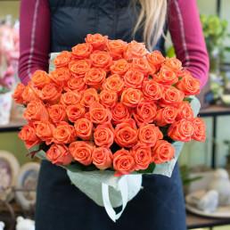 51 оранжевая роза 50 см Кения