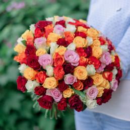 Букет из 51 розы Микс 40 см Кения