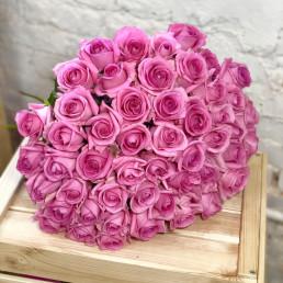 Букет из 51 розовой розы 40 см Кения